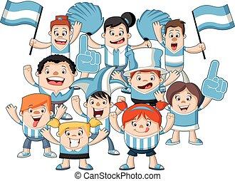 fans , karikatur, sport