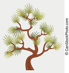 fantástico, árbol, pino