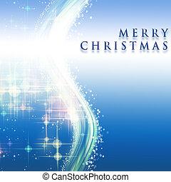 fantástico, copos de nieve, onda, encendido, diseño, estrellas, navidad
