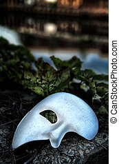 fantóm, můstek, opera, maskovat, -, maškaráda, vinobraní
