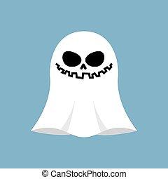 fantôme, bleu, isolated., objet, halloween, arrière-plan., spectre, blanc