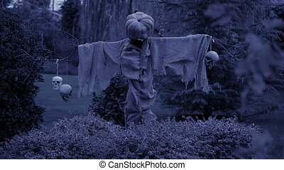 fantôme, effrayant, halloween., pumpkinface., nightmare.,...