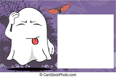 fantôme, halloween, dessin animé, frame4