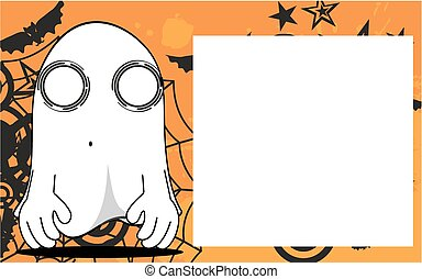 fantôme, halloween, dessin animé, frame6