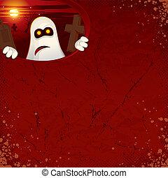 fantôme, halloween, fond