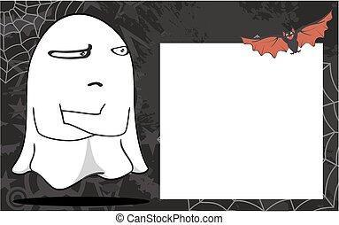 fantôme, halloween, frame7, dessin animé
