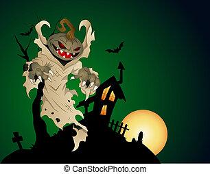fantôme, hanté, halloween, maison