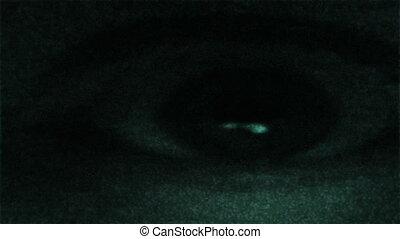 fantôme, oeil, statique, tv