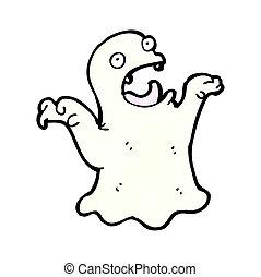 fantôme, peu, dessin animé
