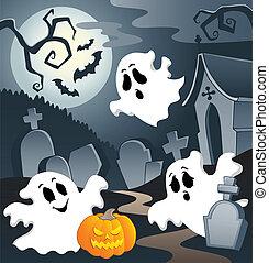 fantôme, thème, image, 3
