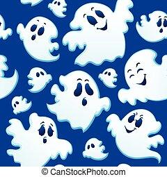 fantômes, seamless, fond, 3