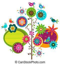 fantaisie, fleurs