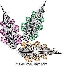 fantaisie, pousse feuilles