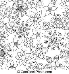 fantasía, flores, colorido