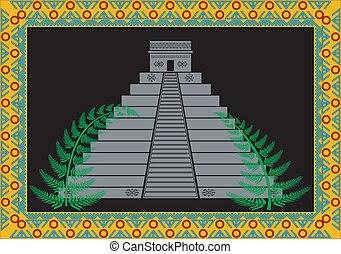 fantasía, maya, pirámide