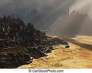 fantasía, paisaje