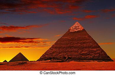 fantasía, pirámide