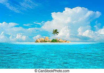 fantasía, sueño, isla