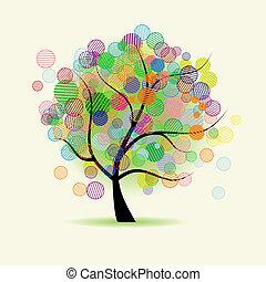 fantasi, konst, träd