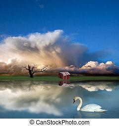 fantasi, landskap