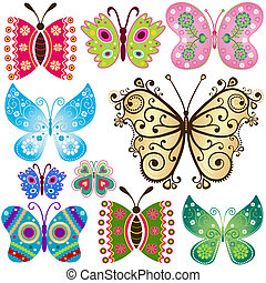 fantasia, borboletas, jogo
