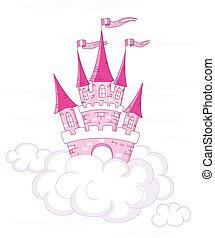 fantasia, castello, vettore