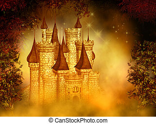 fantasia, castelo, mágico