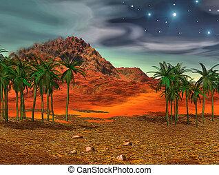 fantasia, colorito, paesaggio