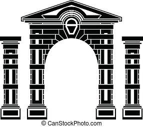 fantasia, colunas, arco