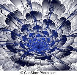 fantasia, flores, fractal