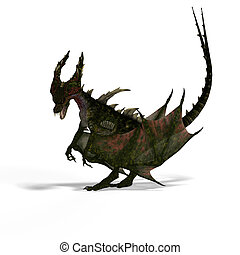 fantasia, forktail, mítico, dragão