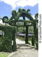 fantasia, giardino, entrata