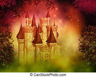 fantasia, magico, castello
