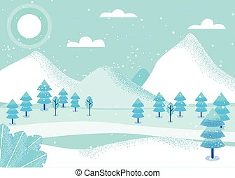 fantasia, paesaggio, inverno
