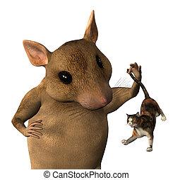 fantasia, rato, íntimo-semeado, -
