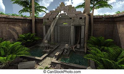 fantasia, ruínas