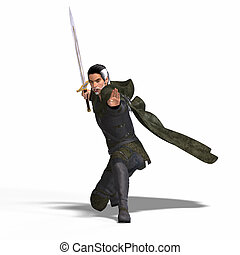 fantasia, velhaco, espada