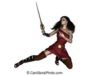 fantasie, barbar, swordswoman