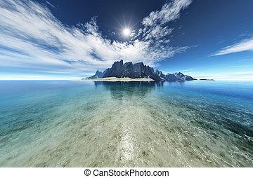 fantasie, eiland