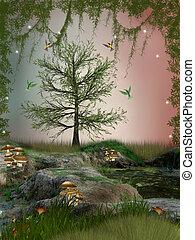 fantasie, landschaftsbild