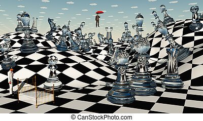 fantasie, schaakspel
