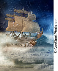 fantasie, schiff