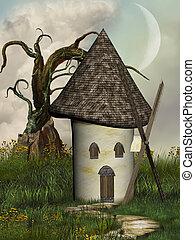 fantasie, windmühle
