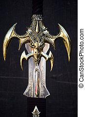 fantasie, zwaard, detail