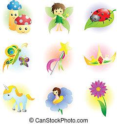 fantasien, fairy, iconerne