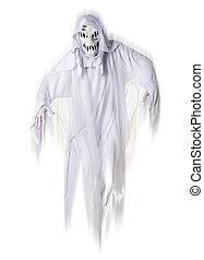 fantasma, blanco, aislado