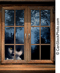 fantasma, bosque brumoso, muñeca