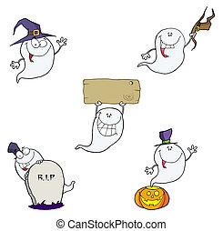 fantasma, caricatura, characters-collection