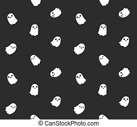 fantasma, carino, cartone animato, modello