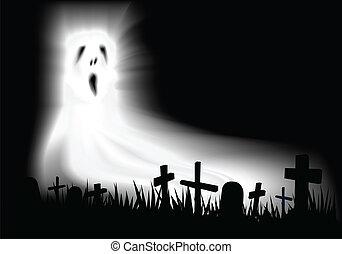 fantasma, cementerio